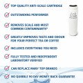 Anti Scale water filter infographic