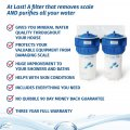 whole of house water softener with water filter infographic