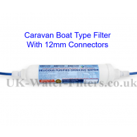 Caravan and Boat Filter Cartridge with 12mm Pipework ADAPTERS
