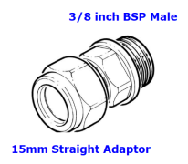 15mm x 3/8 male adapter