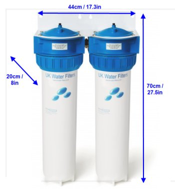 larger house saltless water softener